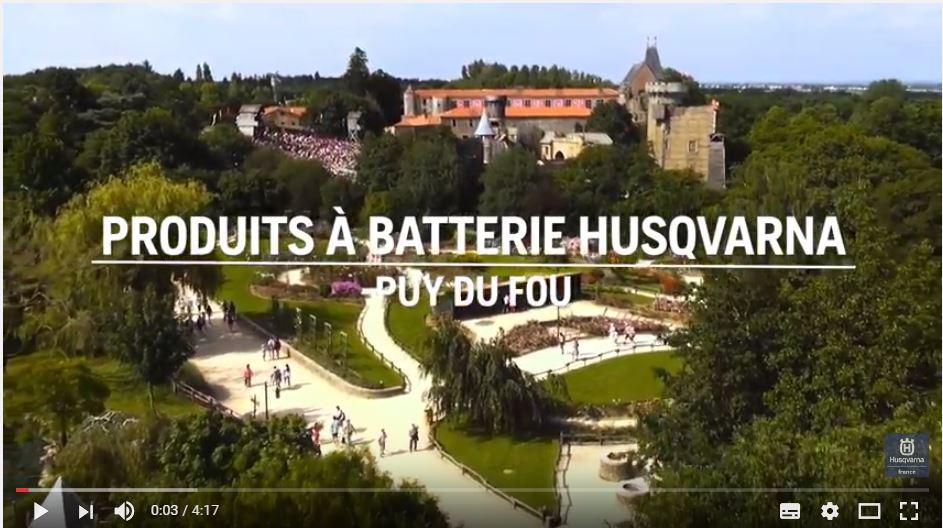 Les Produits À Batterie Husqvarna S'invitent Au Puy Du Fou !